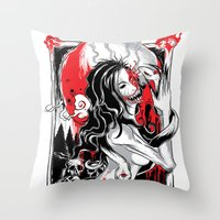 witchcraft Throw Pillows featuring Witchcraft by edison zhou