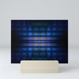 Dark blue blur pattern Mini Art Print