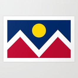 Denver City Flag - Authentic High Quality Art Print