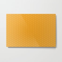 Yellow honeycombs seamless illustration background pattern Metal Print