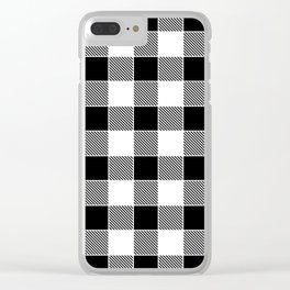 Buffalo Check - black / white Clear iPhone Case