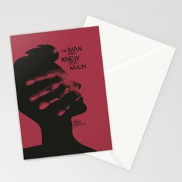 The Man who Knew Too Much, Alfred Hitchcock, minimal movie poster, alternative film playbill, cinema Stationery Cards