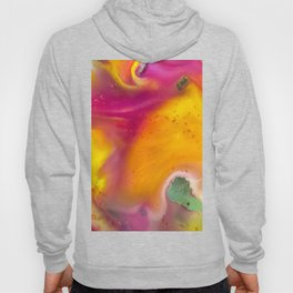 Happiness watercolor abstraction painting Hoody