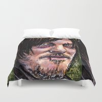 daryl dixon Duvet Covers featuring The Walking Dead Daryl dixon by Steven Burch