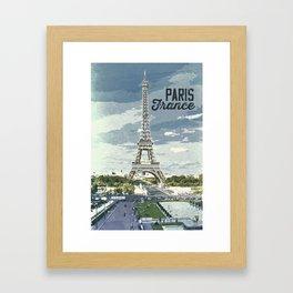Paris, France / Vintage style poster Framed Art Print