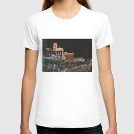 Las Vegas Strip Oil On Canvas T-shirt