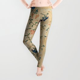 Uzbekistan Suzani Nim Embroidery Print Leggings