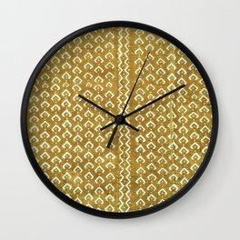 mustard croc/snakeskin mudcloth Wall Clock