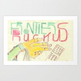 Remote Control Hand Art Print