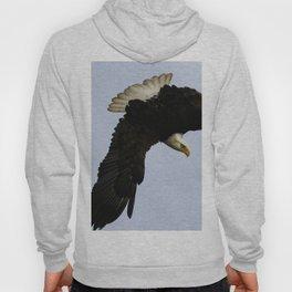 The Descent - Bald Eagle Wildlife Art Hoody