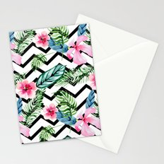 Black and White Tropical Stationery Cards