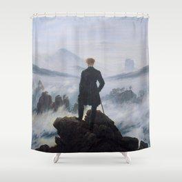 Wanderer above the Sea of Fog - Caspar David Friedrich Shower Curtain