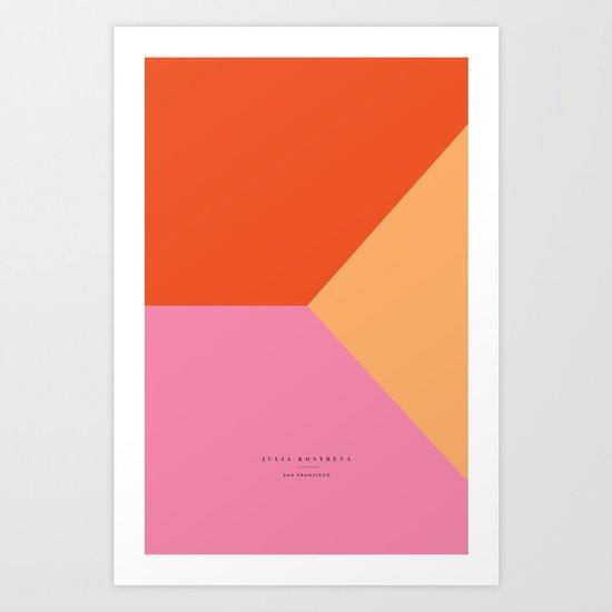 pink - all Art Print