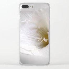 white freesia Clear iPhone Case
