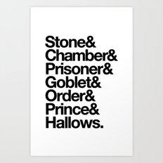 Stone & Chamber & Prisoner & Goblet & Order & Prince & Hallows Art Print