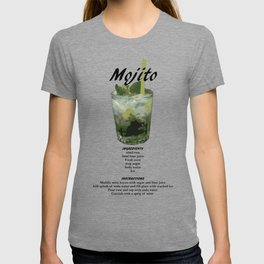 Mojito - Classic Cocktail Recipe T-shirt