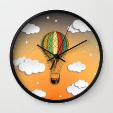 Balloon Aeronautics Dawn Wall Clock