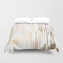 White Gold Sands Thin Bamboo Stripes Duvet Cover
