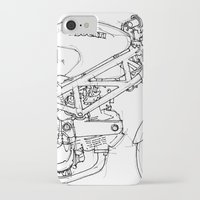 ducati iPhone & iPod Cases featuring Ducati Monster 695d 2007 by Larsson Stevensem