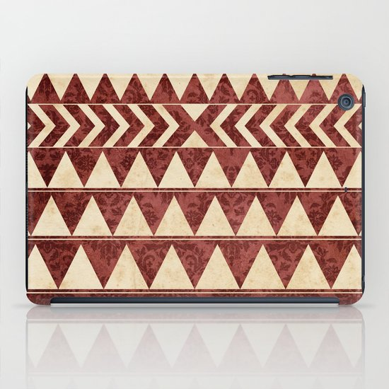 Vintage Material Triangles iPad Case