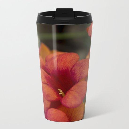 Bignonia Flowers. Photography . Metal Travel Mug