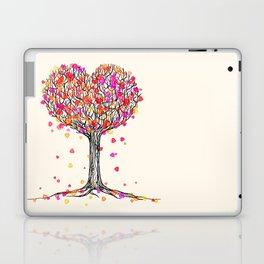 Love in the Fall - Heart Tree Illustration Laptop & iPad Skin