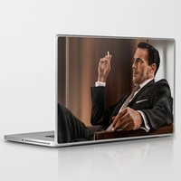 mad men Laptop & iPad Skins featuring Don Draper (Mad Men) by San Fernandez