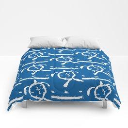 Honu (Blue) Comforters