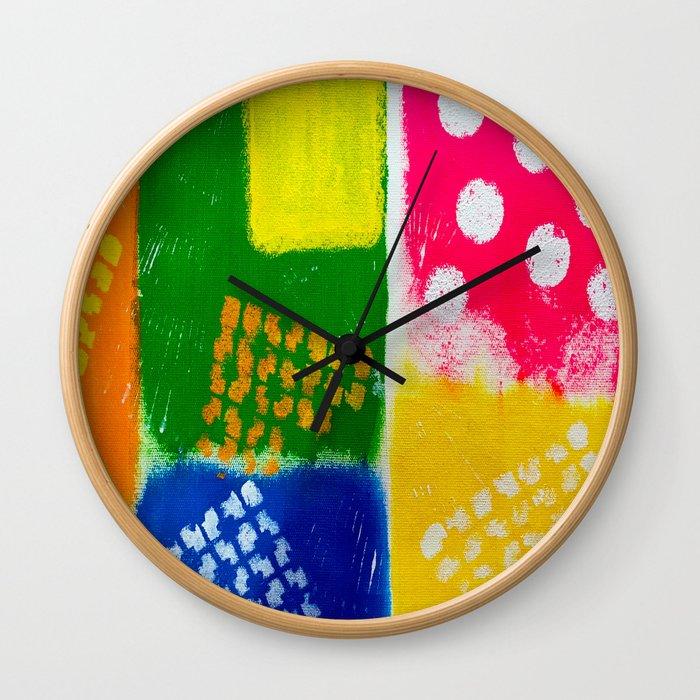 Snazzy Artsy Wall Clock