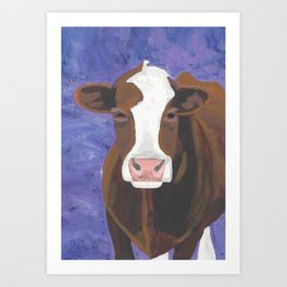 A Cow Named Beulah Art Print