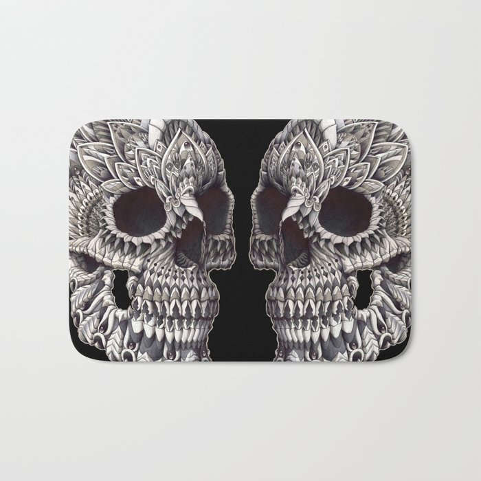 Ornate Skull Bath Mat