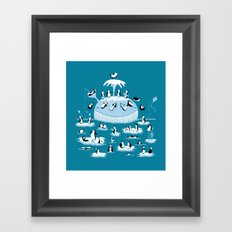 Beach Whale Framed Art Print