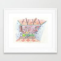 hey arnold Framed Art Prints featuring Hey Arnold! by Osbaston