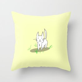 Whiskers The Cat Throw Pillow