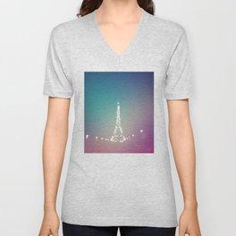 Paris Love In Color Unisex V-Neck