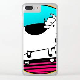 Meow meow I'm a cow poster Clear iPhone Case