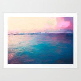 Purple Clouds Art Print