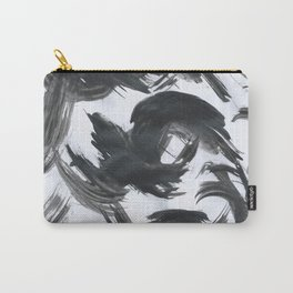 Brush, Abstract, Black & White Carry-All Pouch