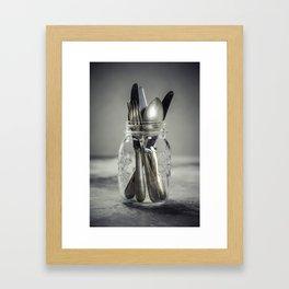 Forks spoons and knifes Framed Art Print