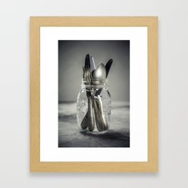 Forks spoons and knifes Framed Art Print