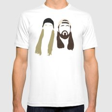 Jay and Silent Bob Strike Back Mens Fitted Tee X-LARGE White