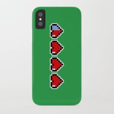 Pixel Hearts iPhone X Slim Case