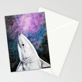 Galaxy Shark Stationery Cards