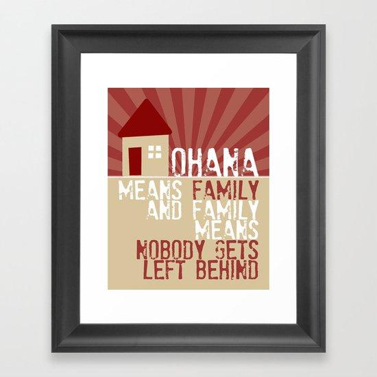 Ohana Means Family Lilo Amp Stitch Framed Art Print By