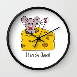 I Love Cheese Wall Clock
