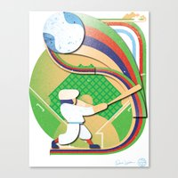baseball Canvas Prints featuring Baseball by Patrick Welham