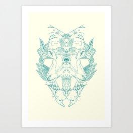 Blind Goat Art Print