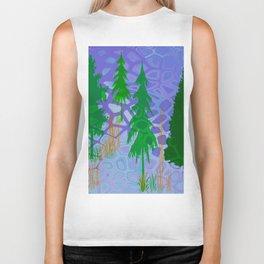 Blue In the woods Biker Tank