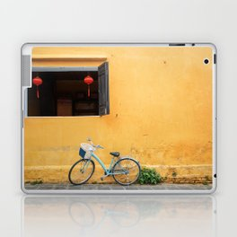 Bicycle and yellow wall. Laptop & iPad Skin