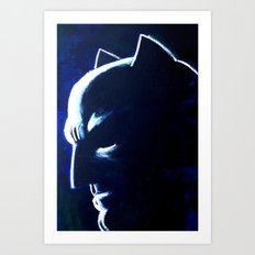 DARK HERO BLUE Art Print